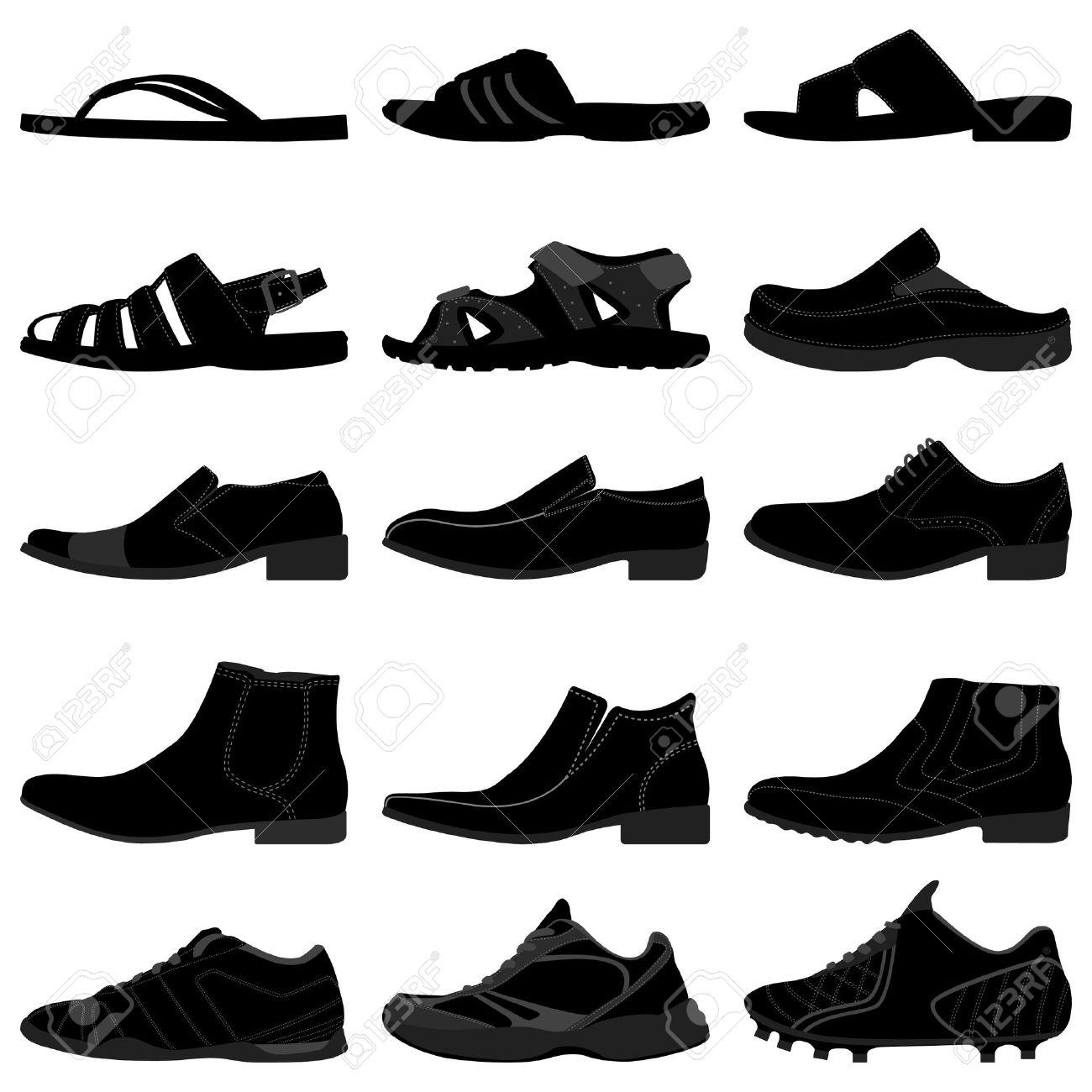 b3cd0bc4d8f Man Male Men Shoes Footwear Stock Vector - 18811990