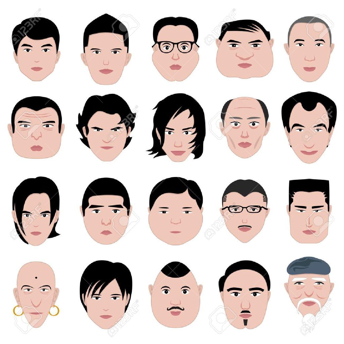 Coupe de cheveux et forme du visage homme