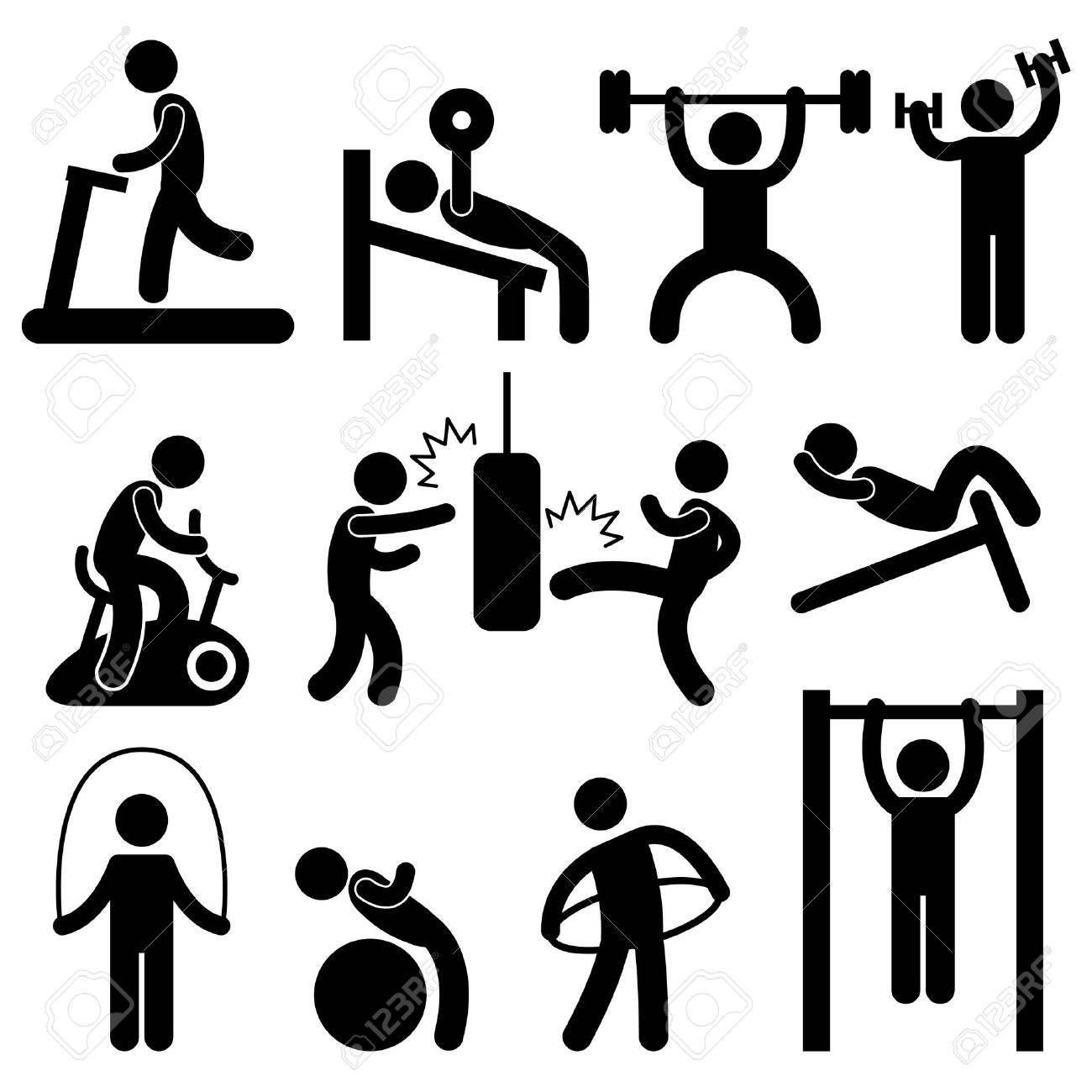 Image result for gym and training icon