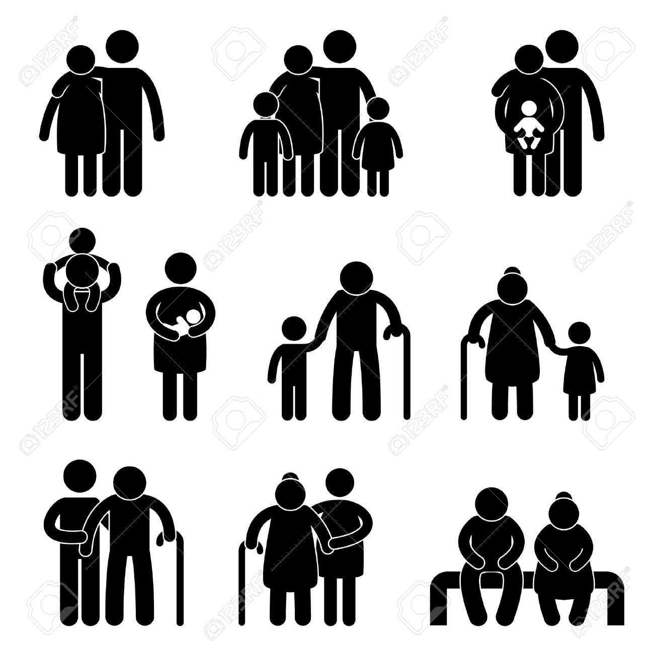 Happy family father mother grandmother grandfather children son happy family father mother grandmother grandfather children son daughter baby infant toddler old man woman grandchildren biocorpaavc