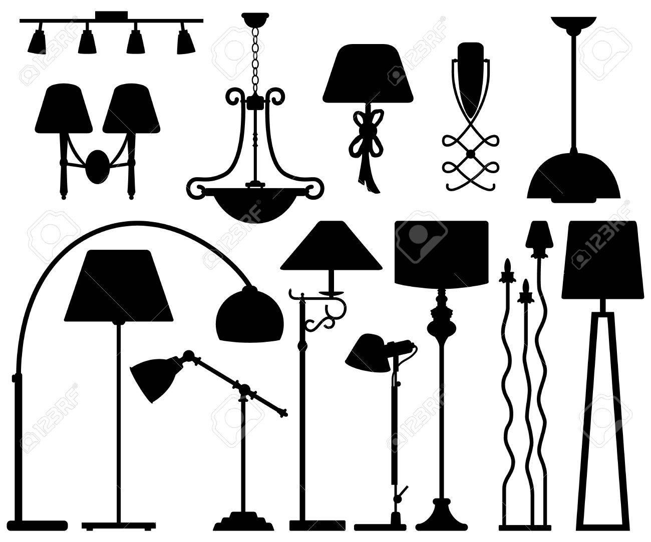 Lamp Design for Floor Ceiling Wall Stock Vector - 18812001