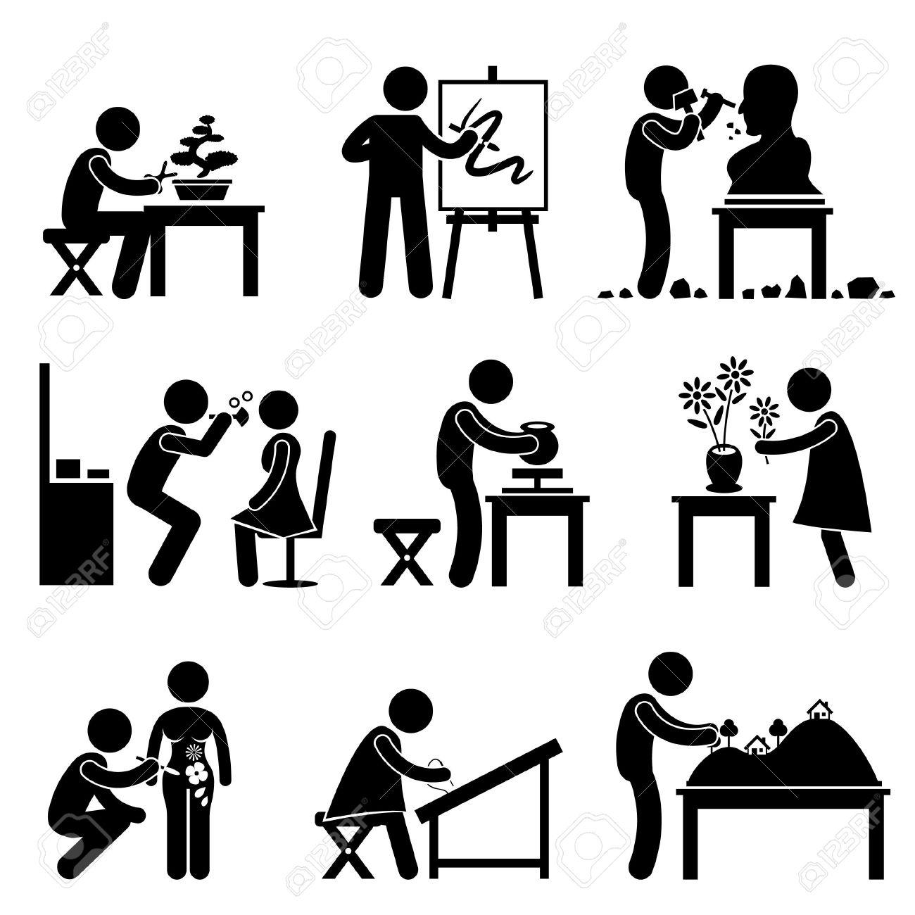 芸術家の仕事職業盆栽画家彫刻家手芸・ ポッター花屋化粧刺繍