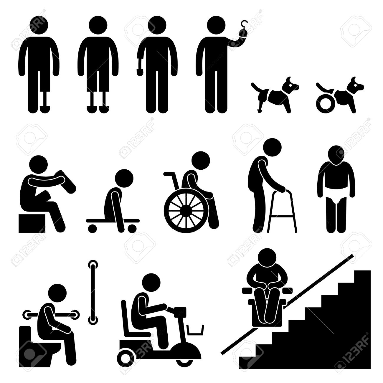 14,709 Disability Stock Illustrations, Cliparts And Royalty Free ...
