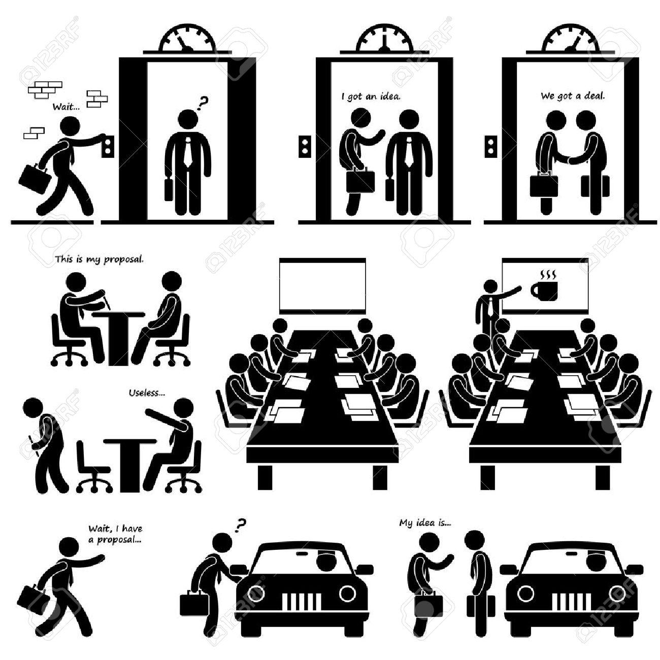 Negocios Propuesta Idea Presentación De Ventas Elevator Pitch ...