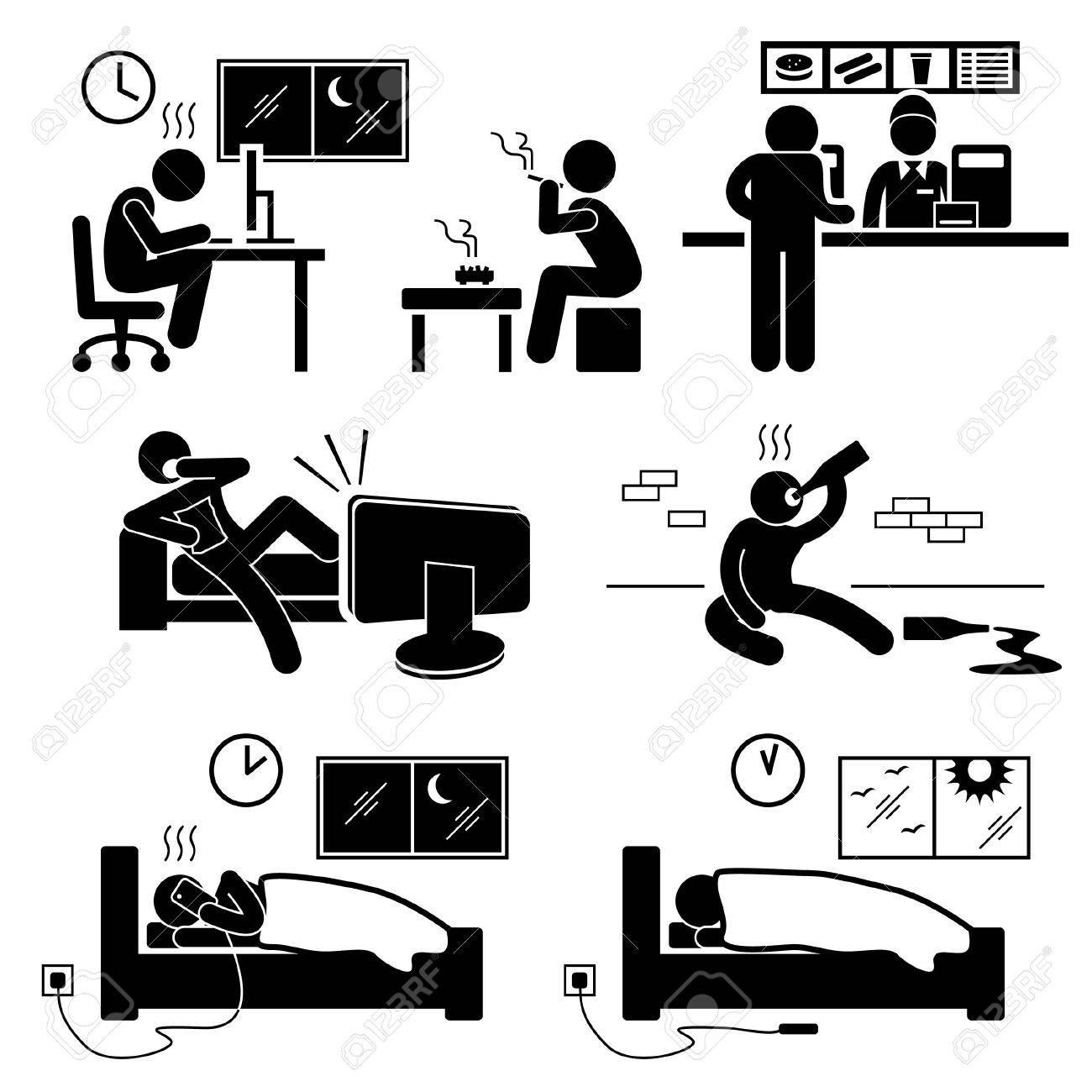 [Jeu] Association d'images - Page 6 26057711-Malsain-Mauvais-habitude-de-vie-de-b-ton-figure-pictogramme-Ic-ne-Banque-d'images