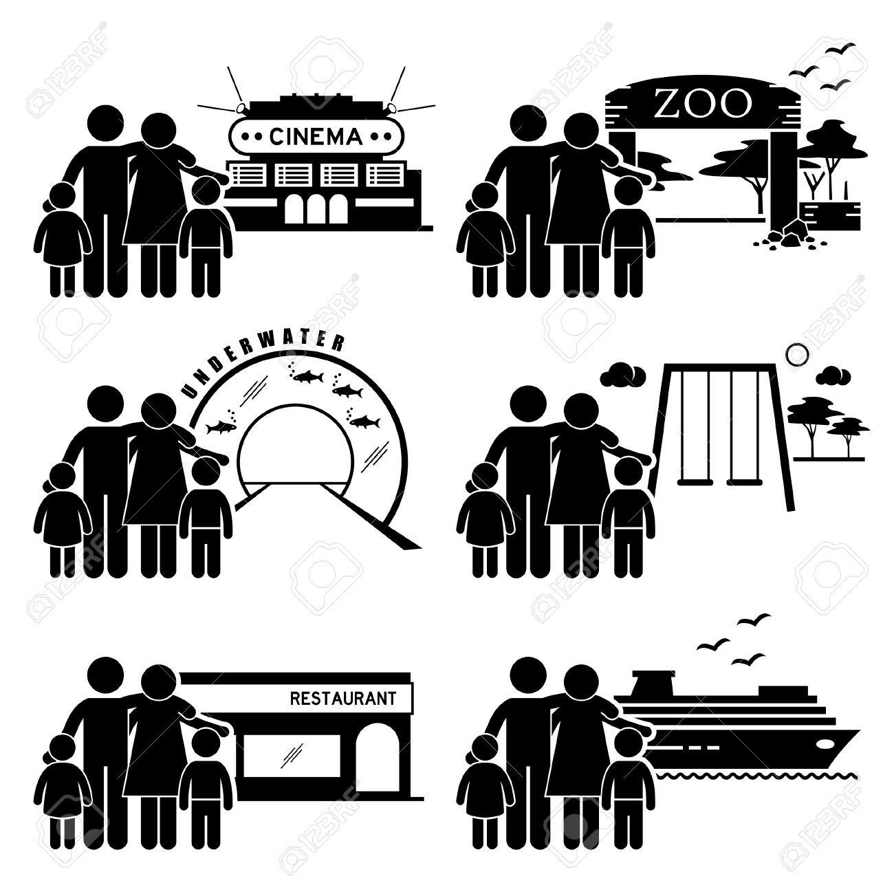 Familien Ausflug Aktivitäten   Kino, Zoo, Unterwasserthemenpark,  Spielplatz, Restaurant Esszimmer,