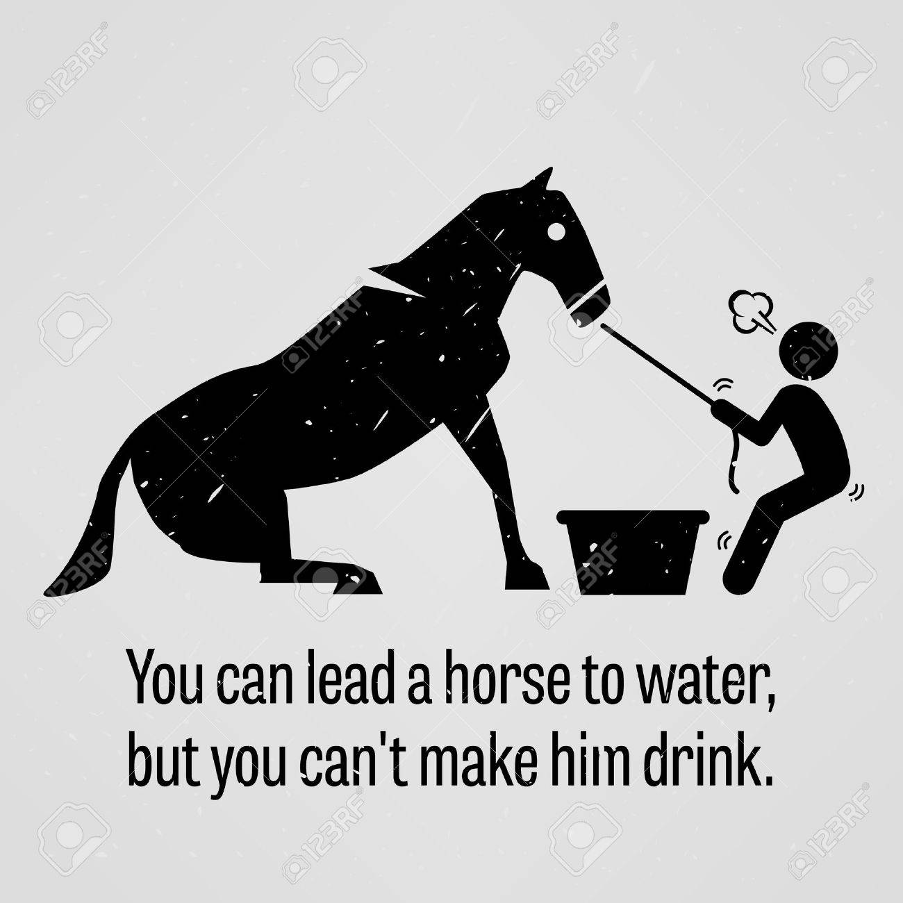 Water Horse: You Can Lead A Horse To Water But You Cannot Make Him Drink