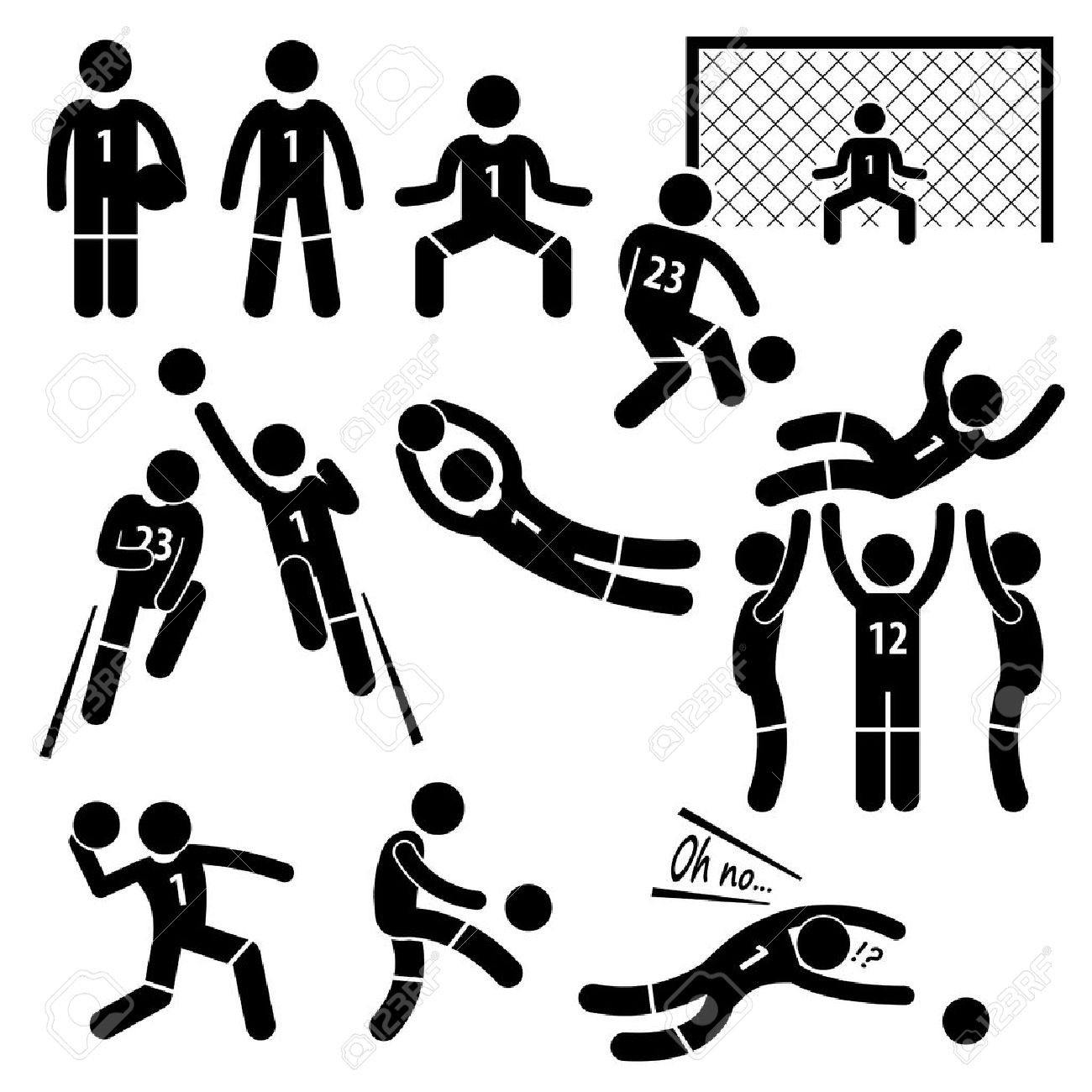 stick figure football