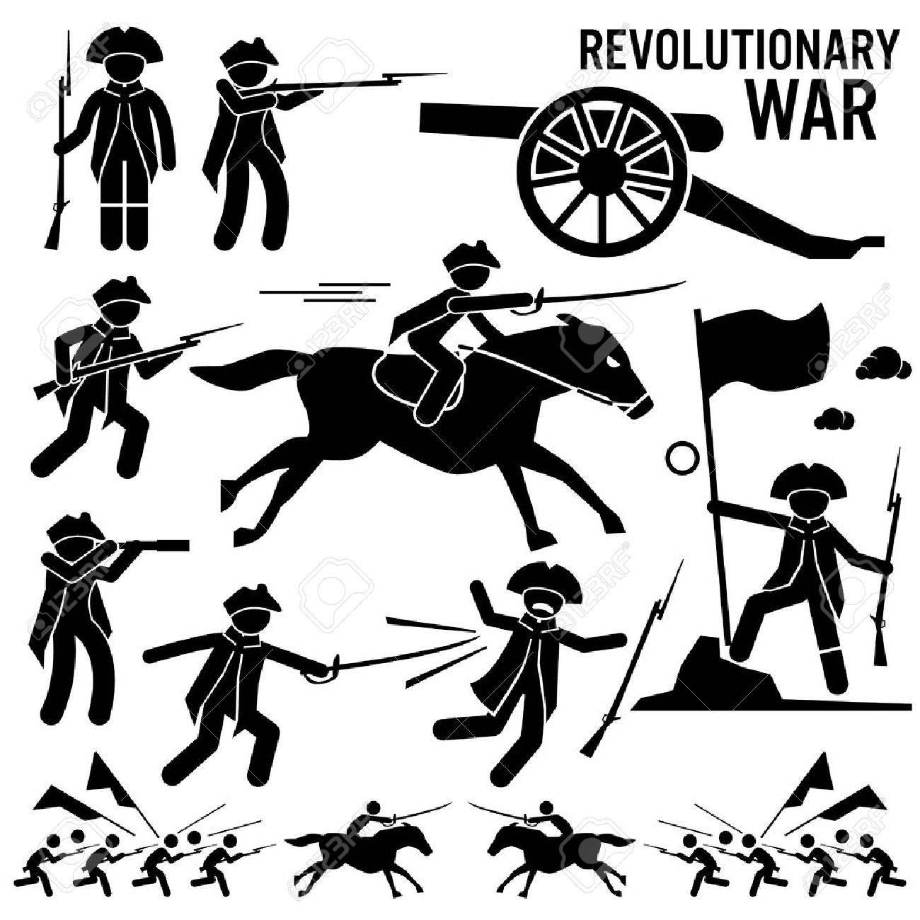 revolutionary war soldier horse gun sword fight independence rh 123rf com Patriots Revolutionary War Clip Art American Revolutionary War