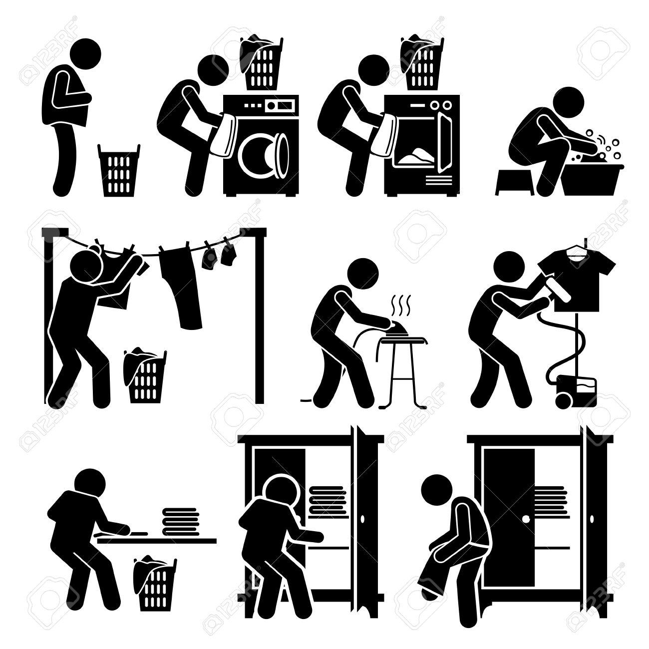 Laundry Works Washing Clothes Pictogram - 53802610