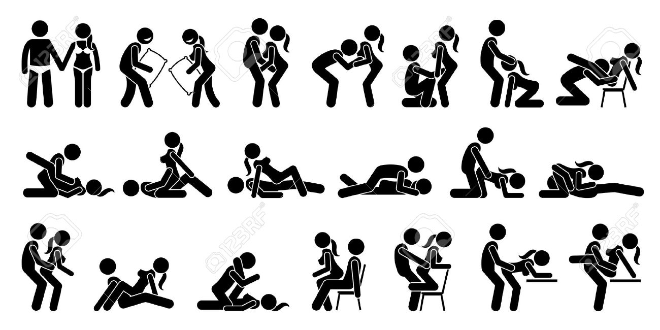 Sexual Positions, Kama Sutra or Kamasutra, and Erotic Foreplay. - 70930573