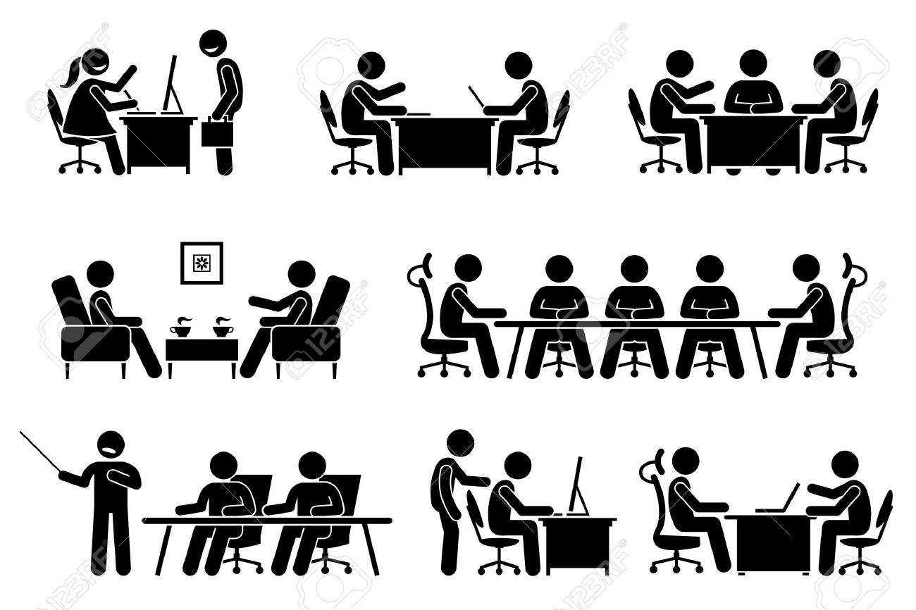 business meeting, conference, and discussion. The meet up are business proposal, brainstorming, annual general meeting, and presentation. They are marketeer, director, and entrepreneur. - 69593894