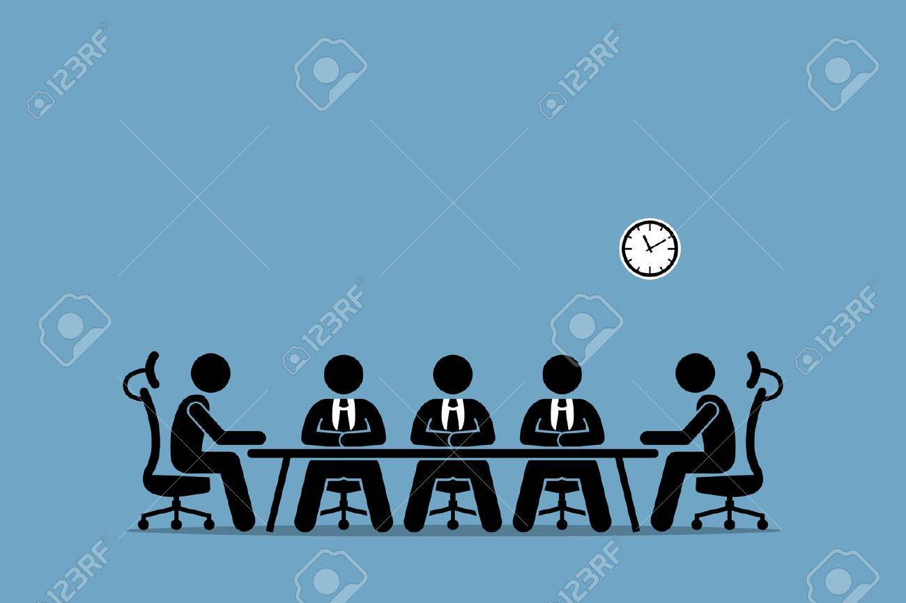 Brainstorming and discussion among businessman. Boardroom meeting with company professional directors and shareholders. - 71258542