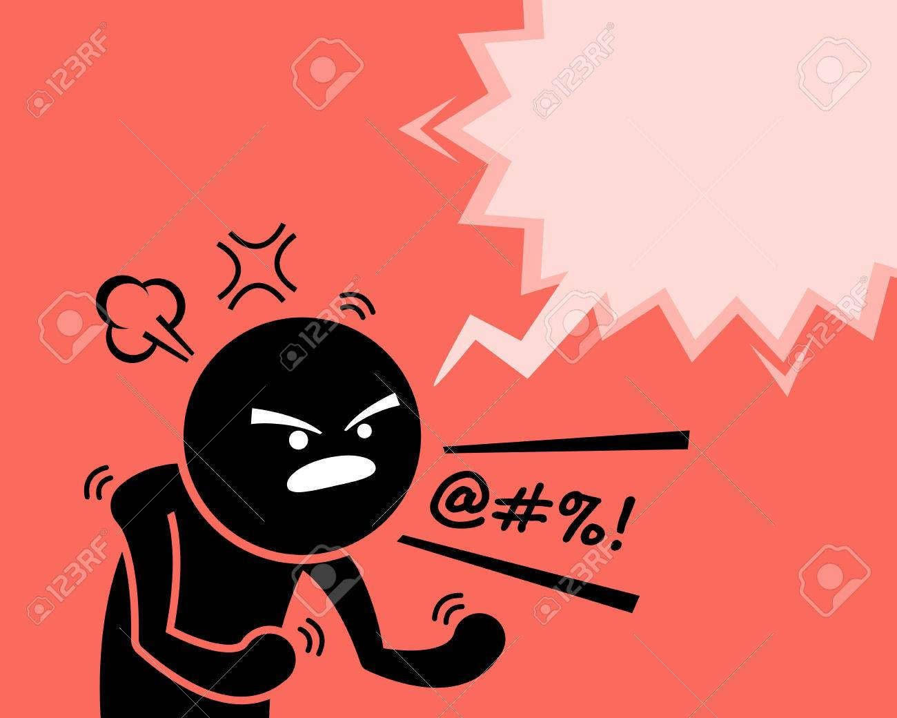 A very angry man expressing his anger, rage, and dissatisfaction by asking why. He is cursing and swearing at something or someone by yelling and screaming out loud. He is very pissed off. - 84729183