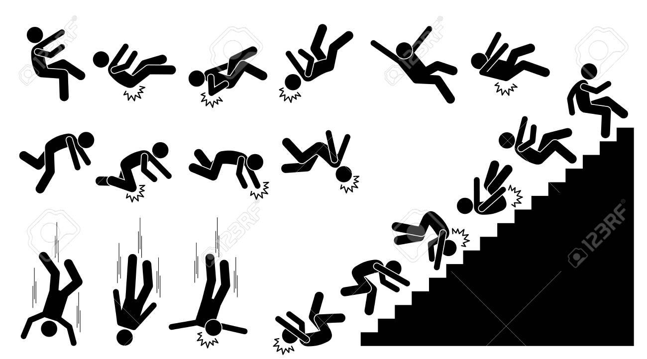 a person falling