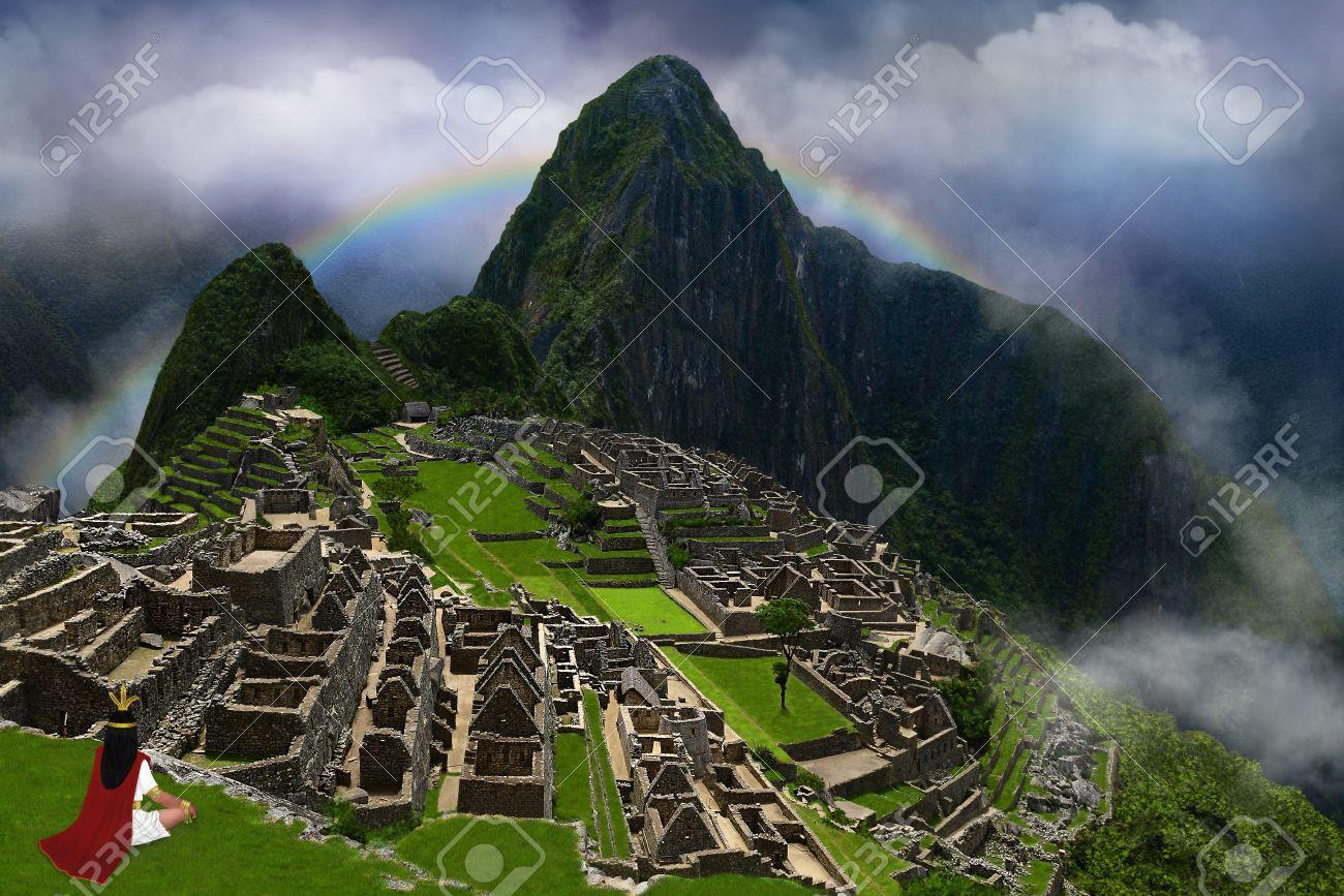 イラスト、コラージュ、図面とデジタル アート。インカ帝国 ...