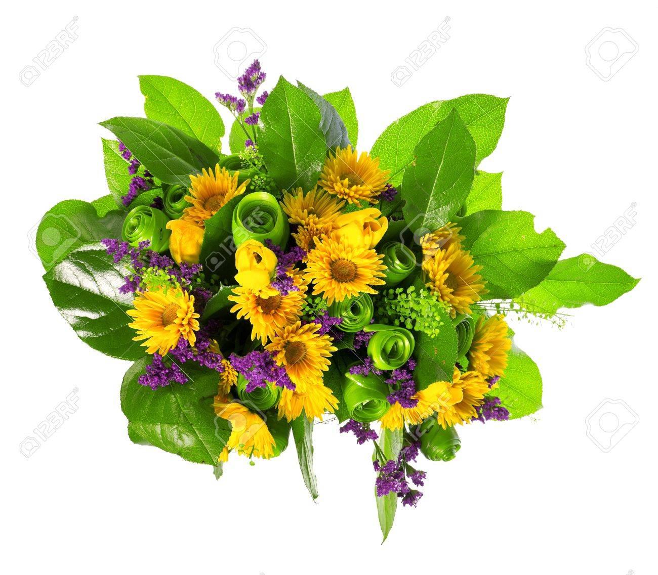 basket of roses, tulips and limonium Stock Photo - 13757731