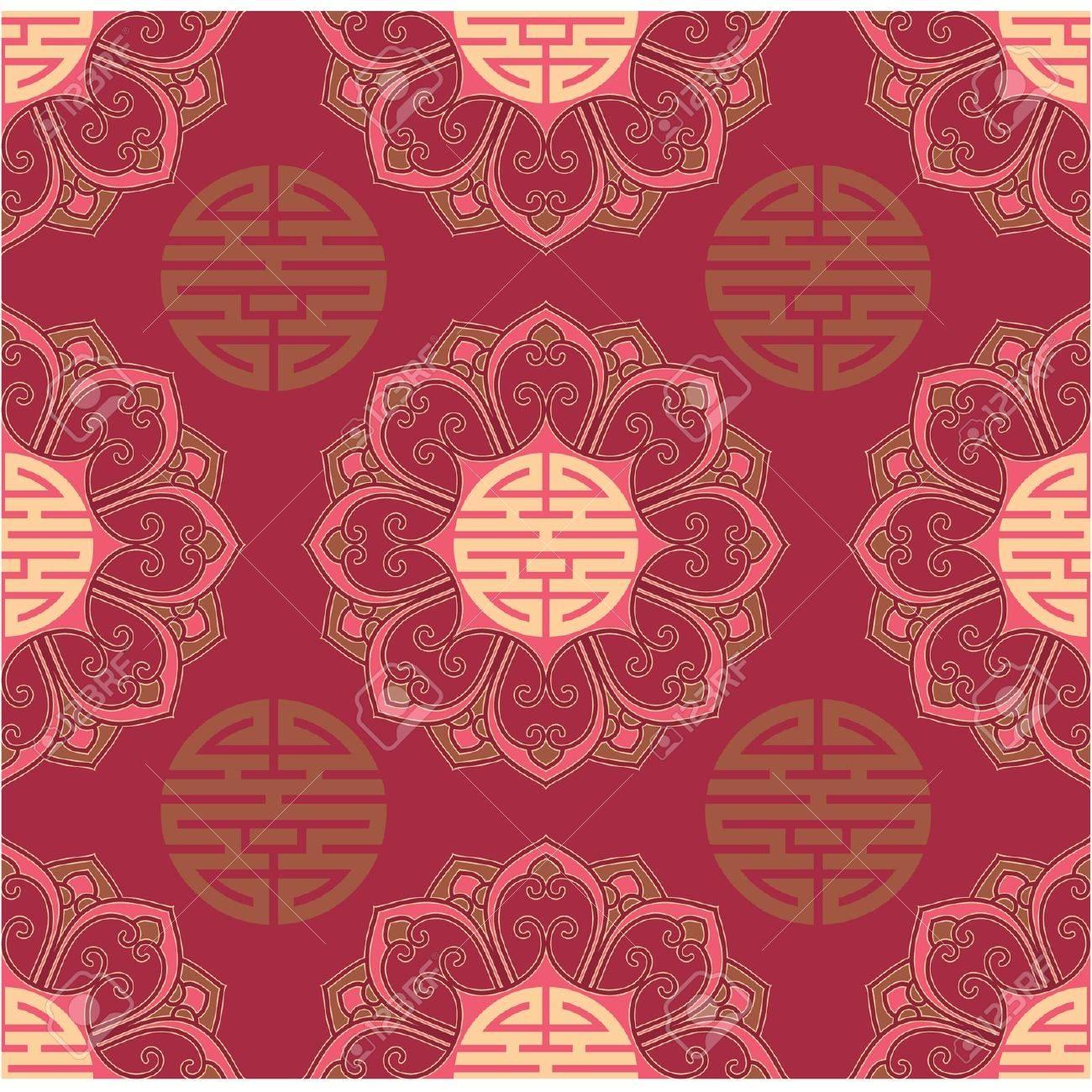 Vector Seamless Oriental Tile Stock Vector - 9505837