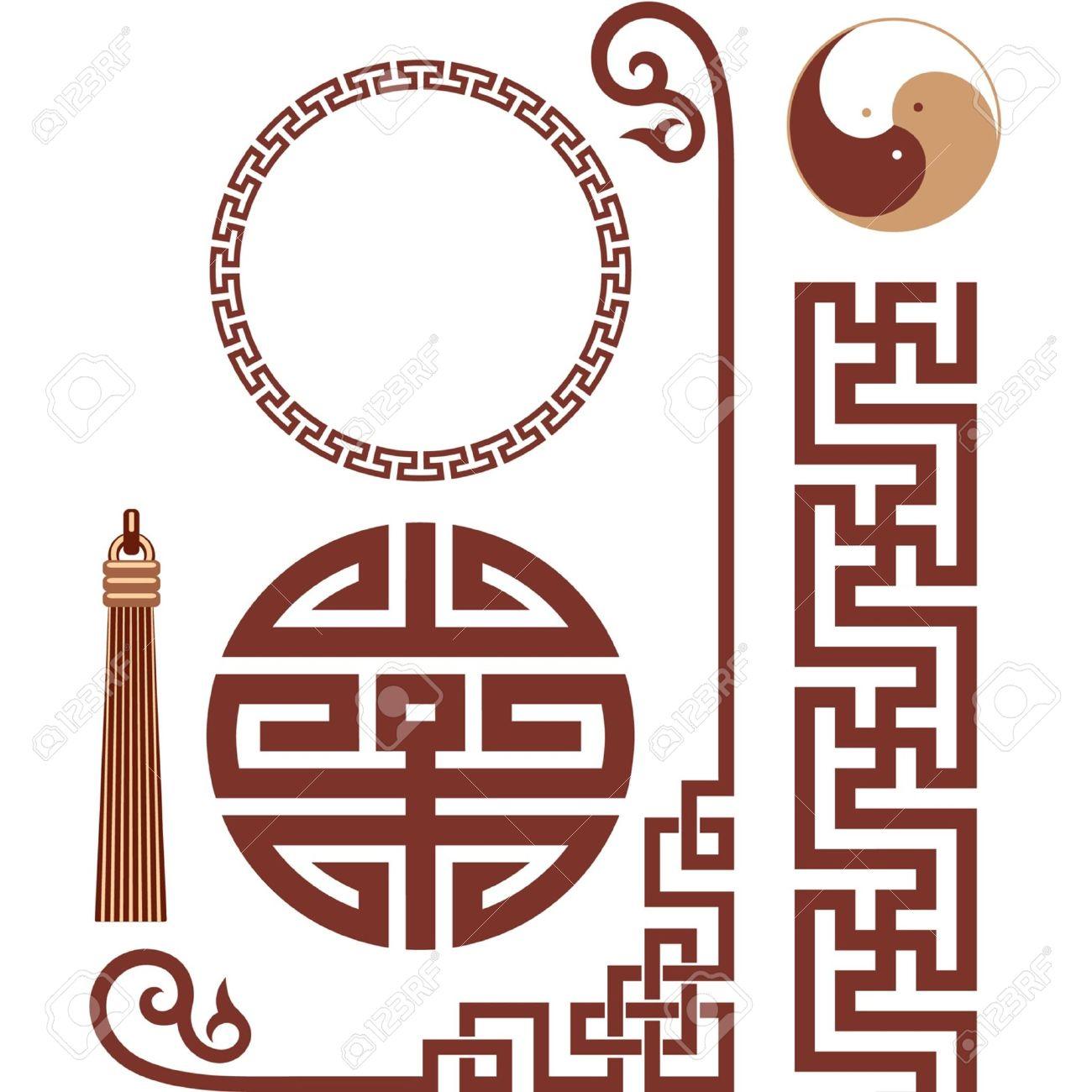 Vector Set of Oriental Elements - 9505806