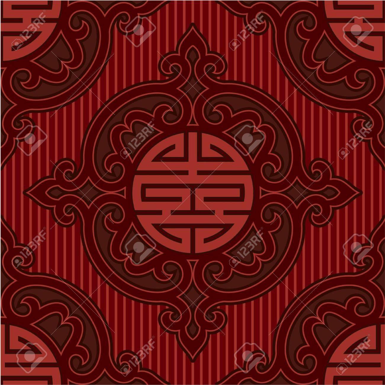 Vector Seamless Oriental Tile Stock Vector - 9505796