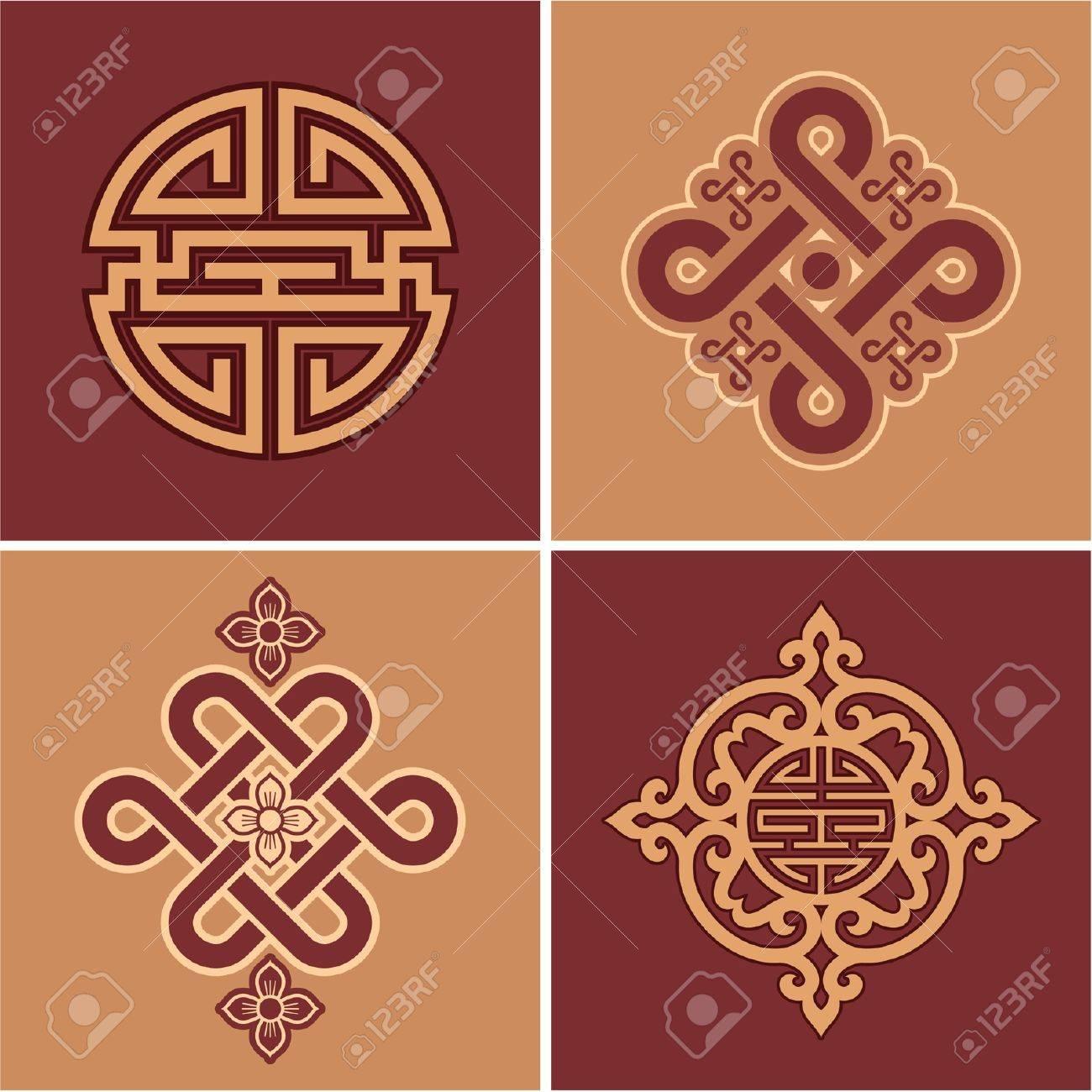 Vector Set of Oriental Elements - 9505842