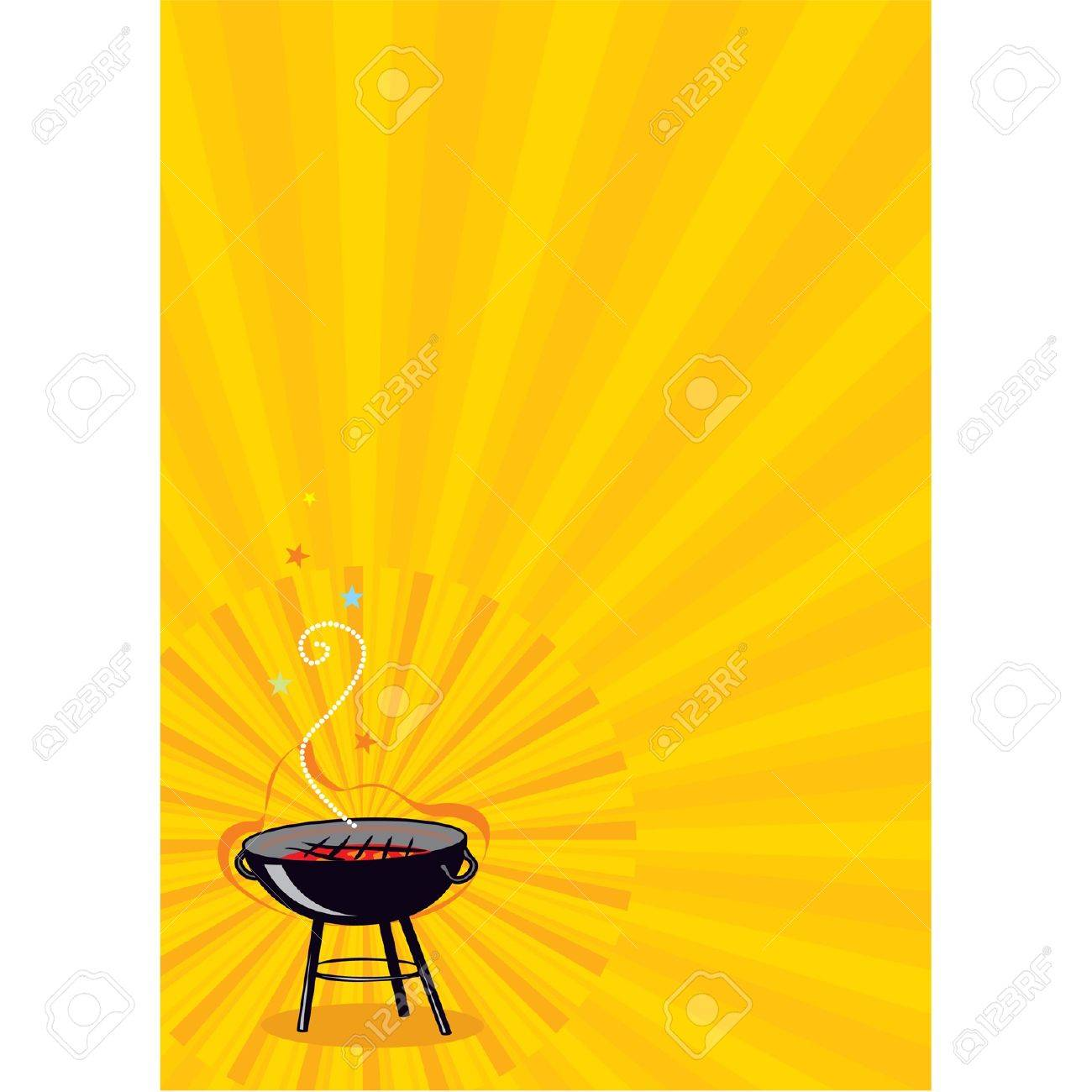 Cookout border clipart hot dog cookout invite stock vector art - Bbq Background Vector Barbecue Copy Space Poster