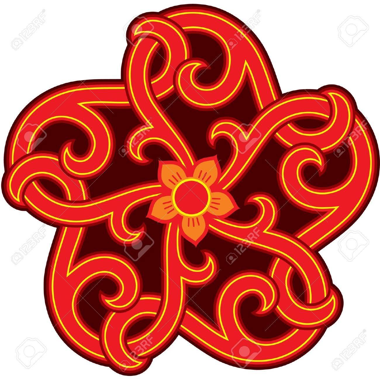 Good Oriental Design Star Element (Rosette) Stock Vector   10762933