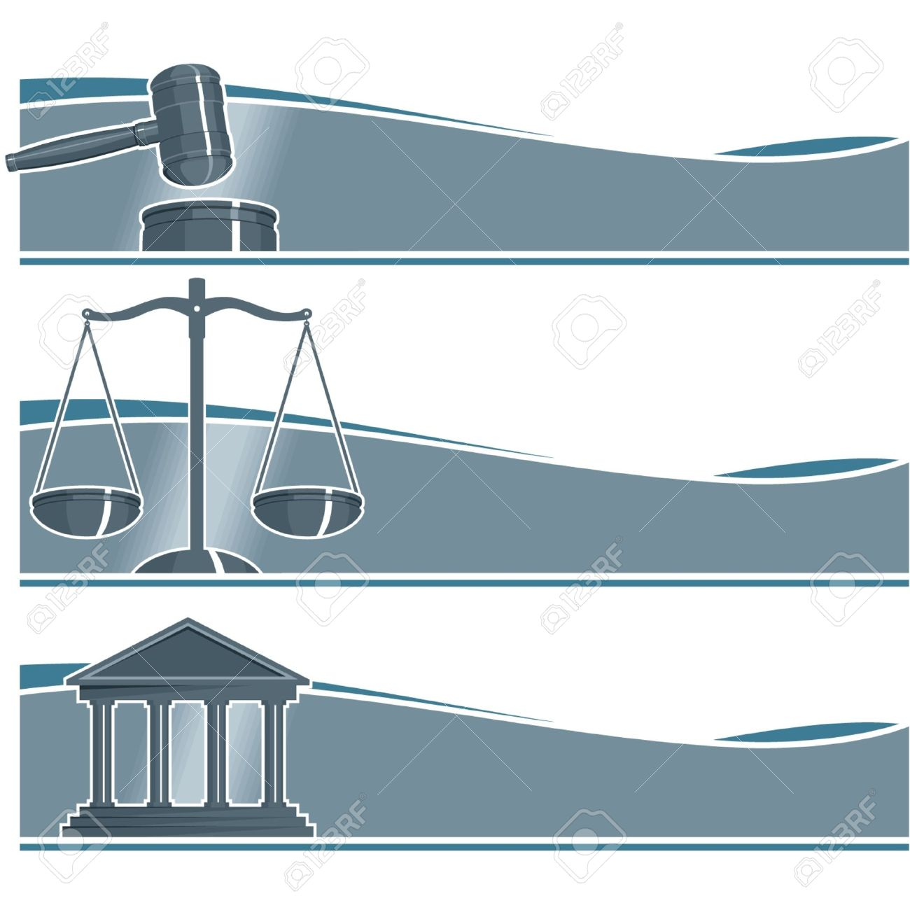 Set of Attorney Banners Stock Vector - 11113943