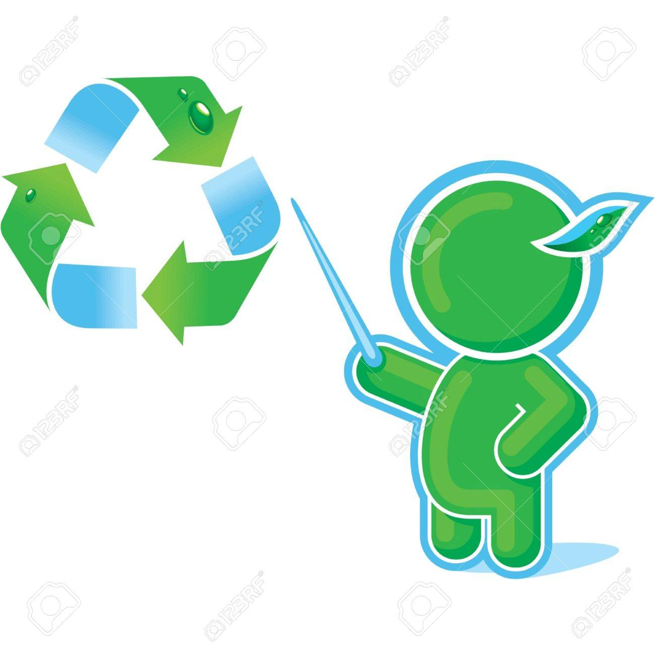 Green Hero with Recycle Symbol Stock Vector - 11113901