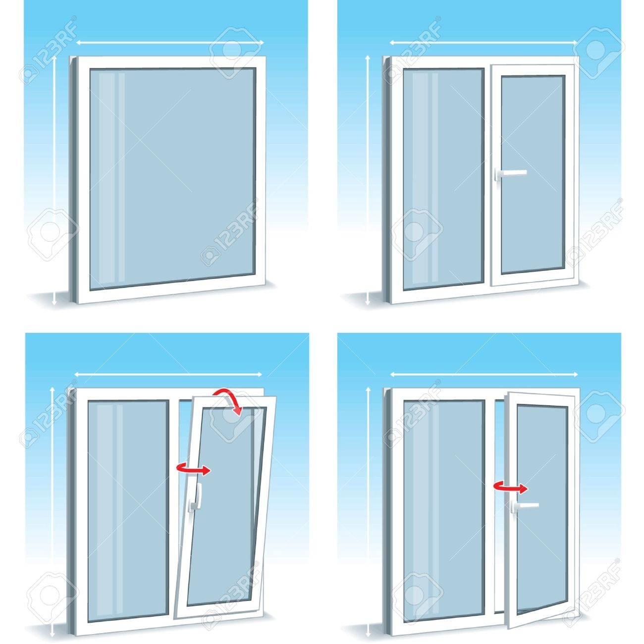 Ventanas Pvc Stock.Set Of Plastic Pvc Window Types