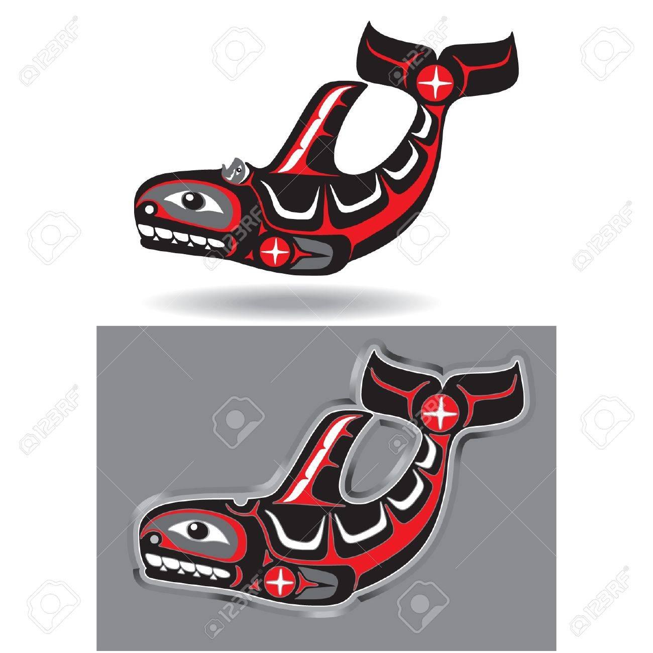 Orca (Killer Whale) in Native Art Style Stock Vector - 11113900