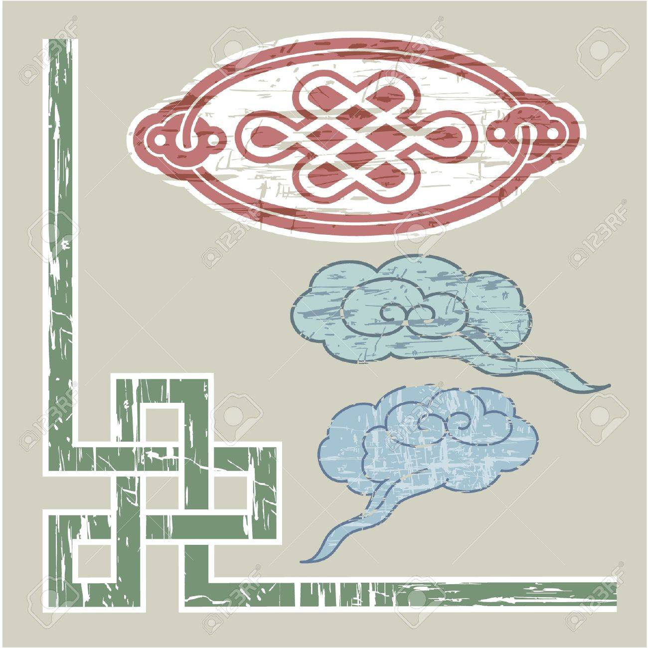 Oriental Border and Ornament Stock Vector - 11113854