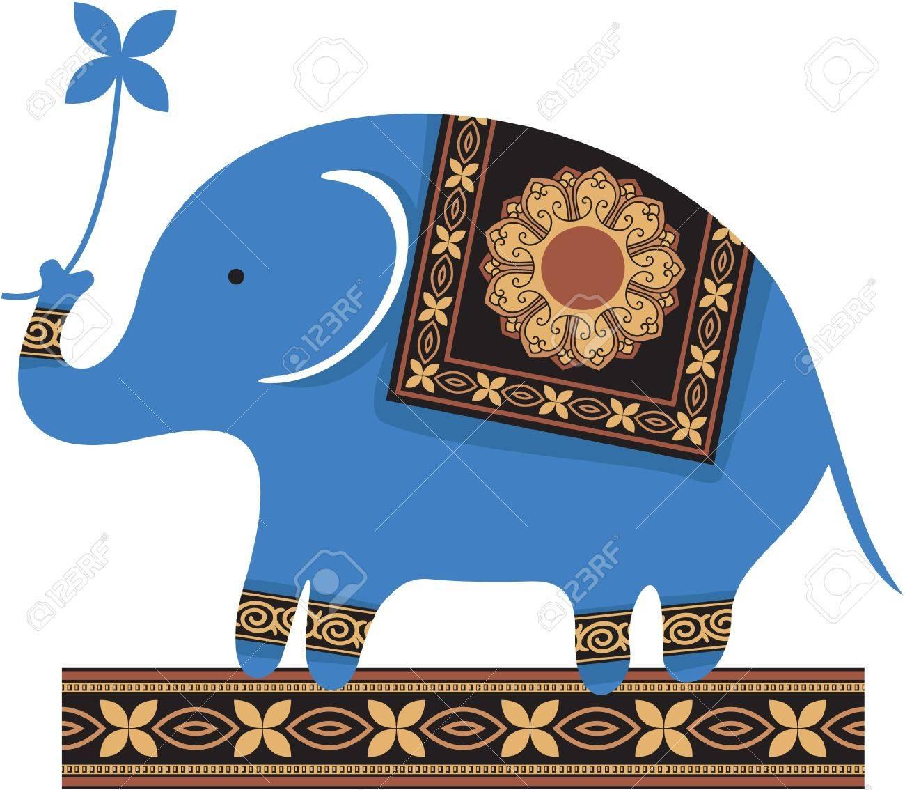 Thai Elephant Thai Elephant Cute Blue