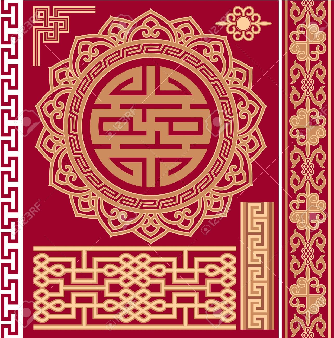 Set of Oriental - Chinese - Design Elements Stock Vector - 12826022
