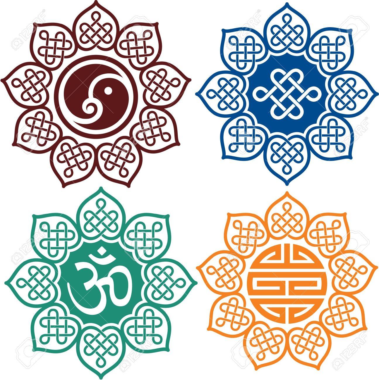 Set Of Oriental Design Elements Stock Vector   13719350