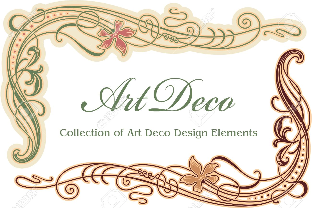 Art Deco Design Elements art deco design element - corner royalty free cliparts, vectors