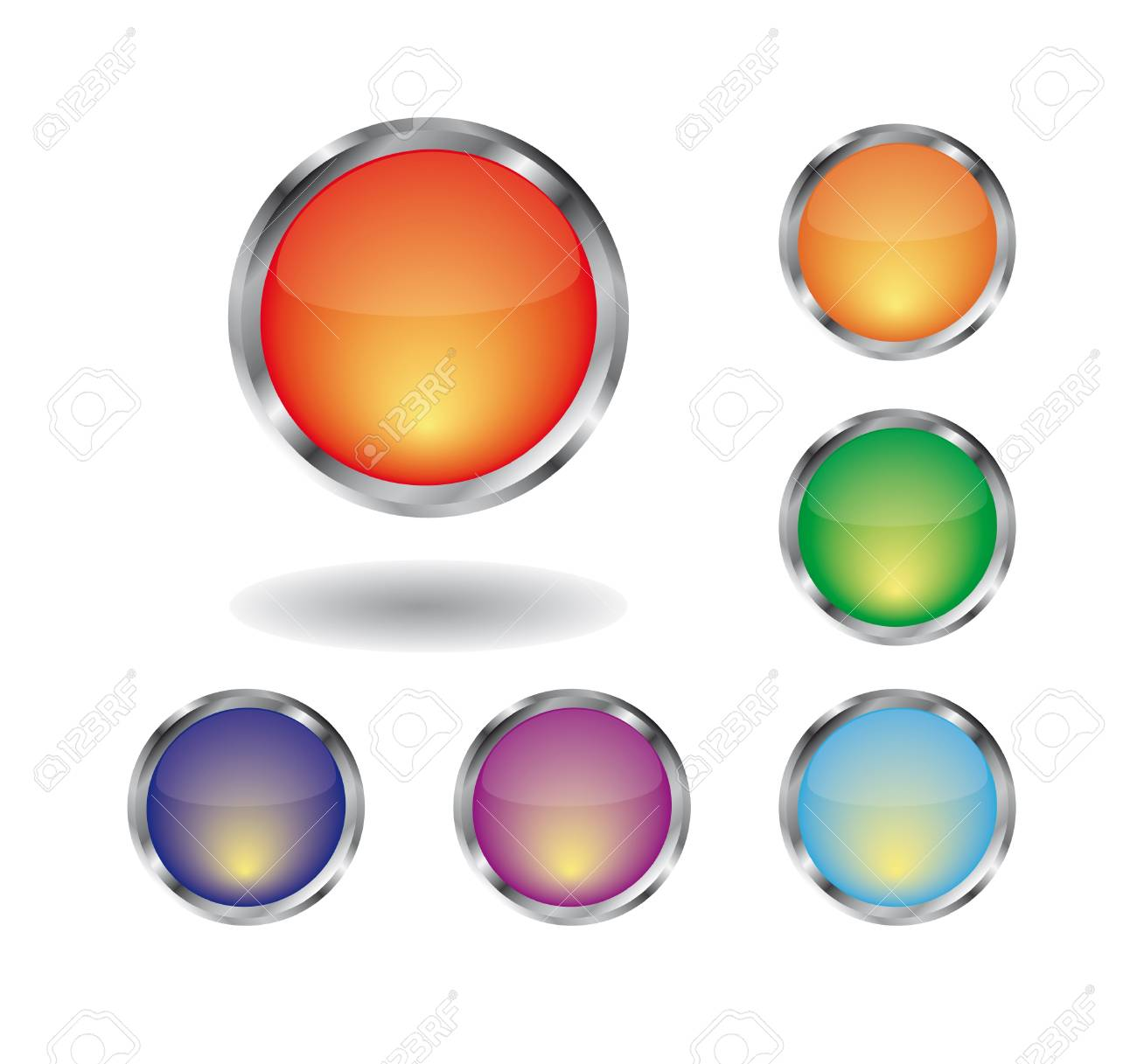 Collection of glossy buttons.  illustration. Stock Vector - 8010605