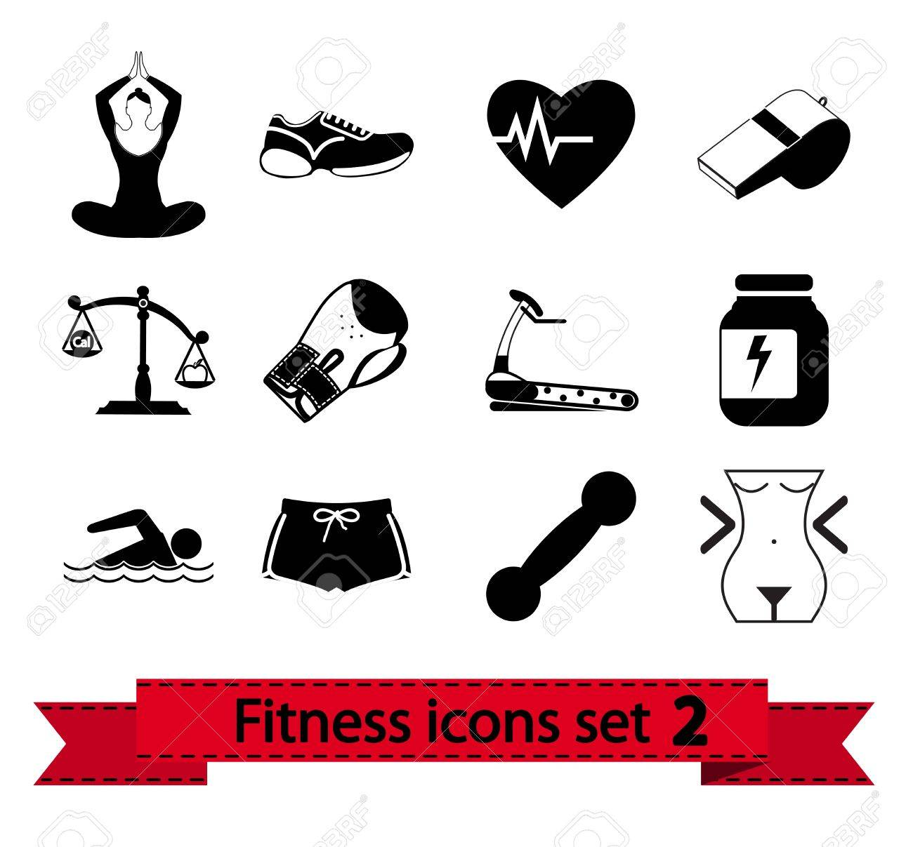 Professiona fitnessl icons for your website  illustration Stock Vector - 15205309