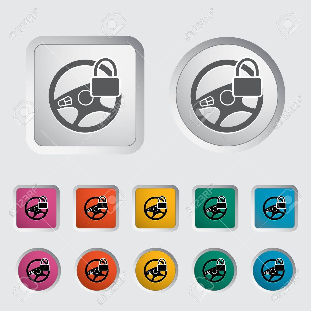 Car Steering Wheel icon. Vector illustration. Stock Vector - 17304293