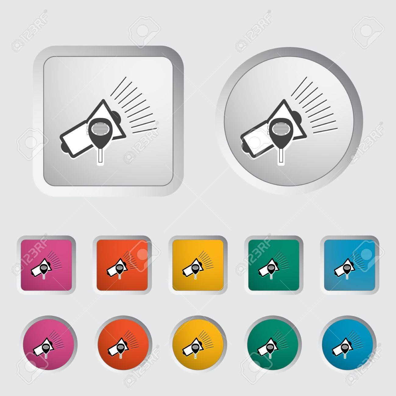 Megaphone single icon. Vector illustration. Stock Vector - 17355271