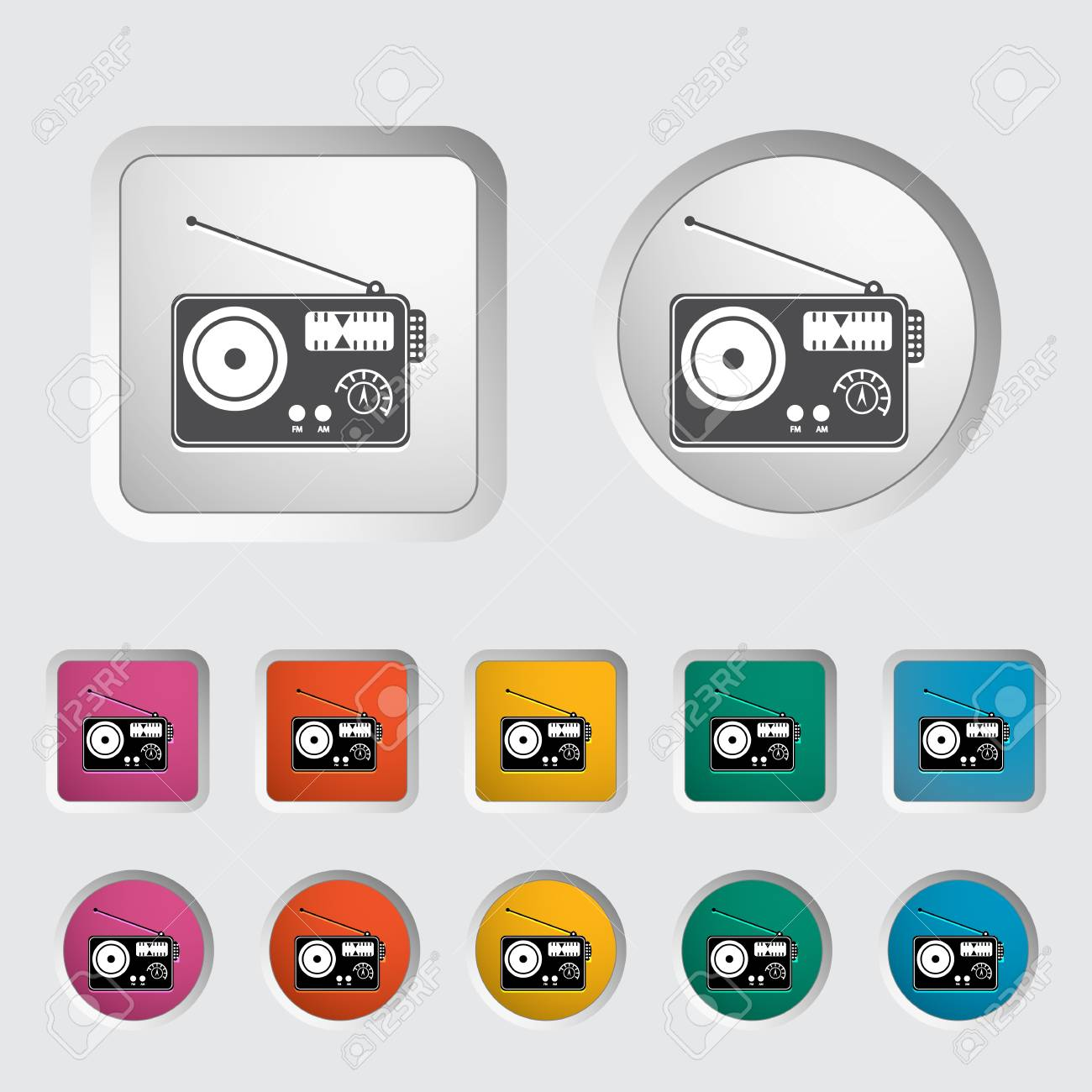 Radio single icon Stock Vector - 18015342