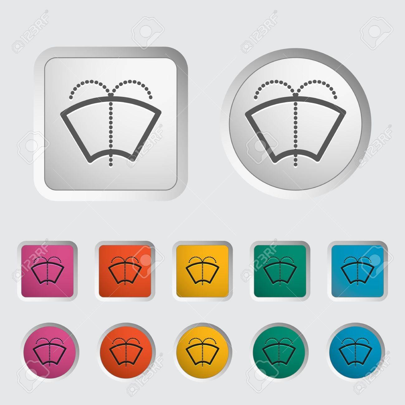 Car icon wiper  Vector illustration Stock Vector - 18052509