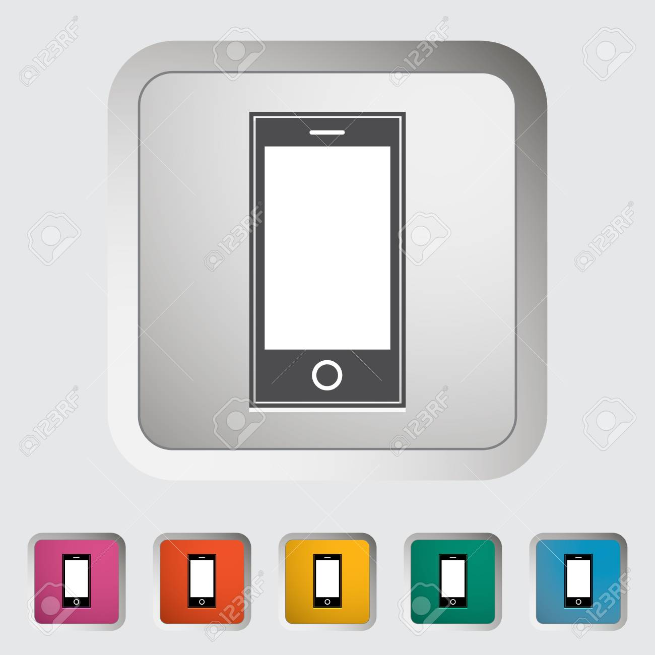Smartphone single icon illustration Stock Vector - 18512811