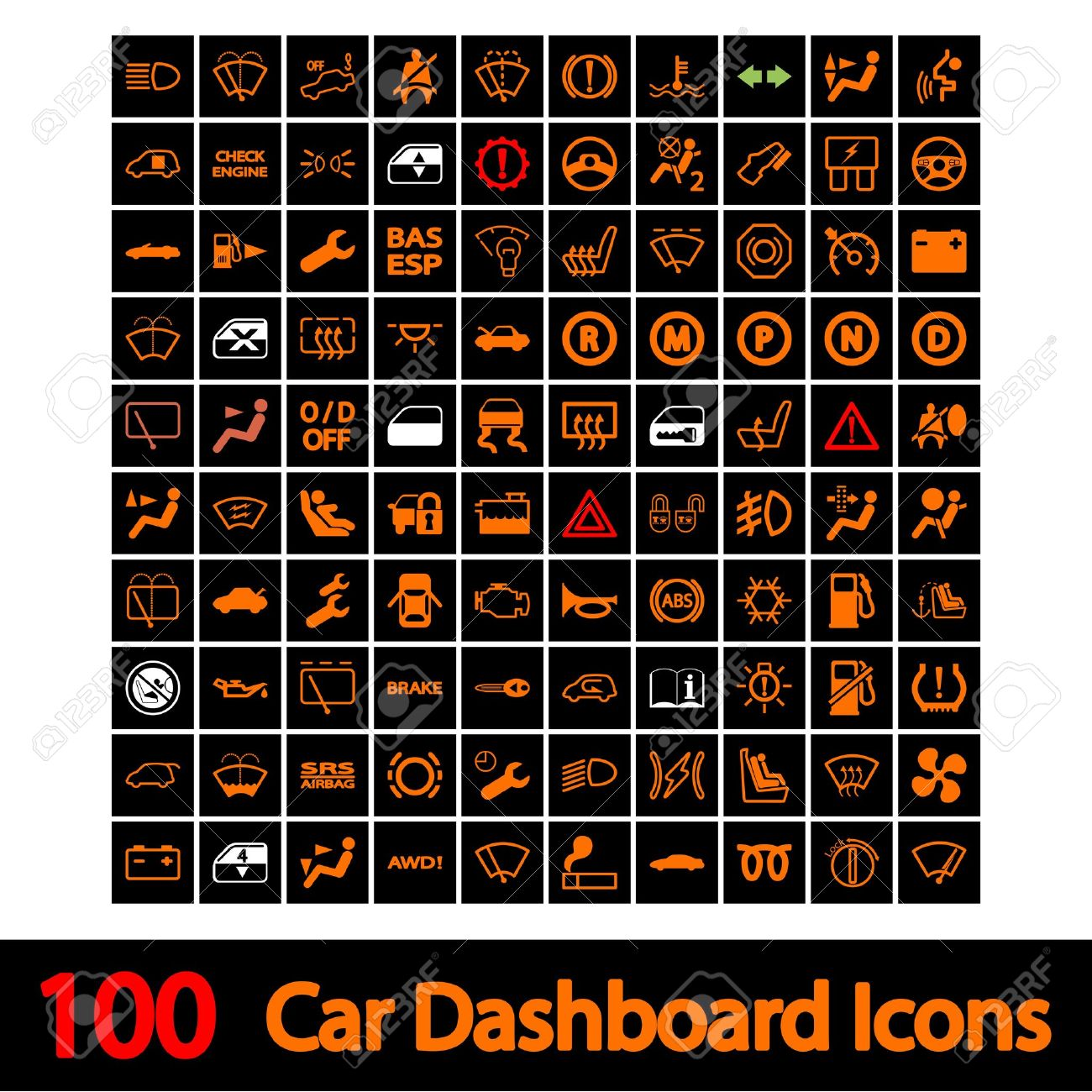 Car Dashboard Icons Vector Illustration Royalty Free Cliparts - Car image sign of dashboardcar dashboard icons stock images royaltyfree imagesvectors