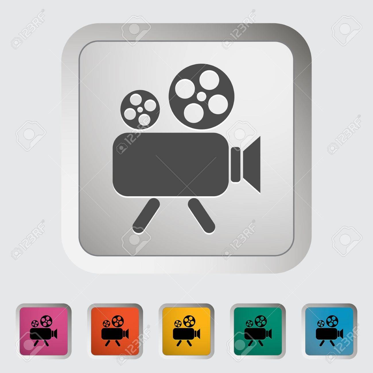 Videocamera. Single icon. Vector illustration. Stock Vector - 19210817