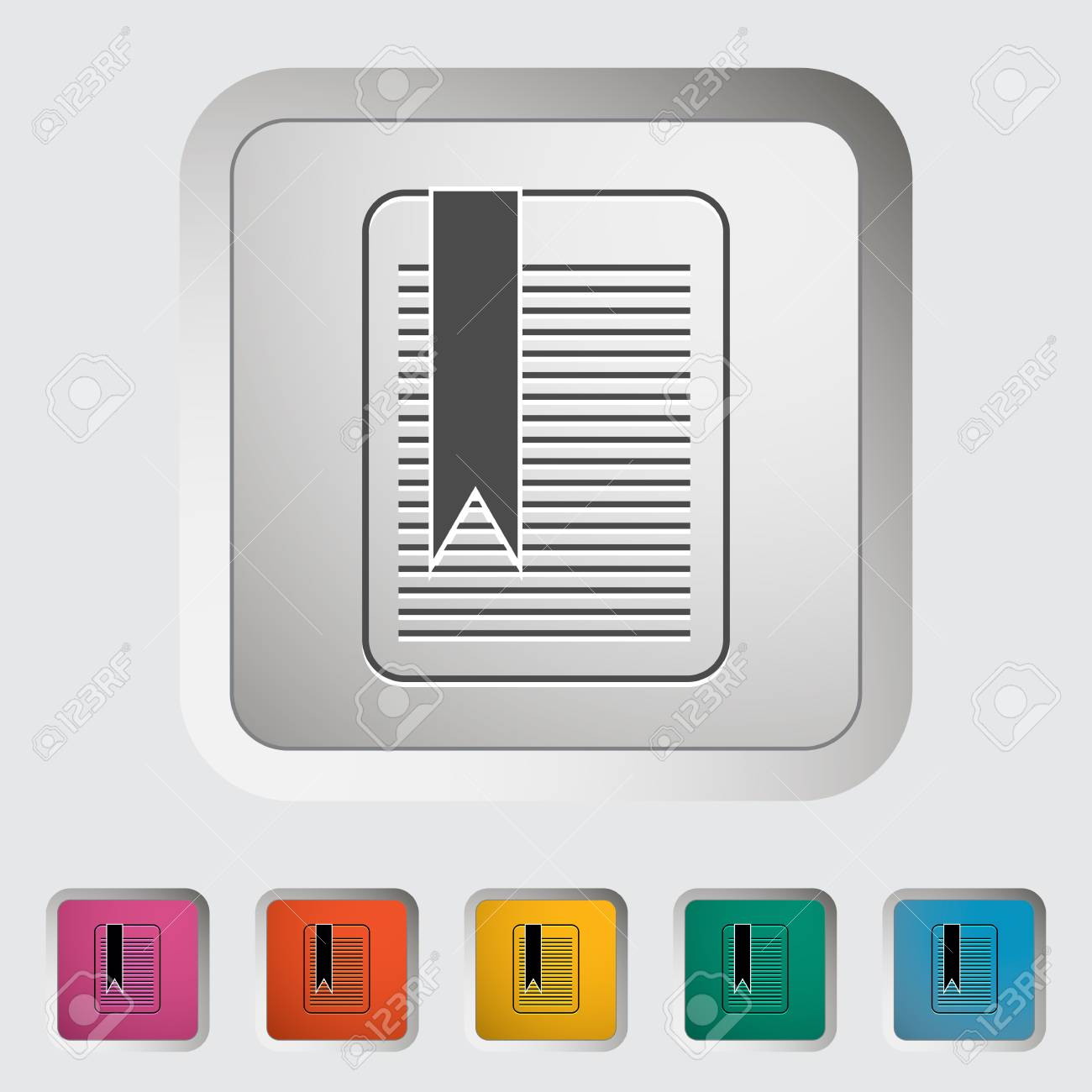 Bookmark. Single icon. Vector illustration. Stock Vector - 19210814