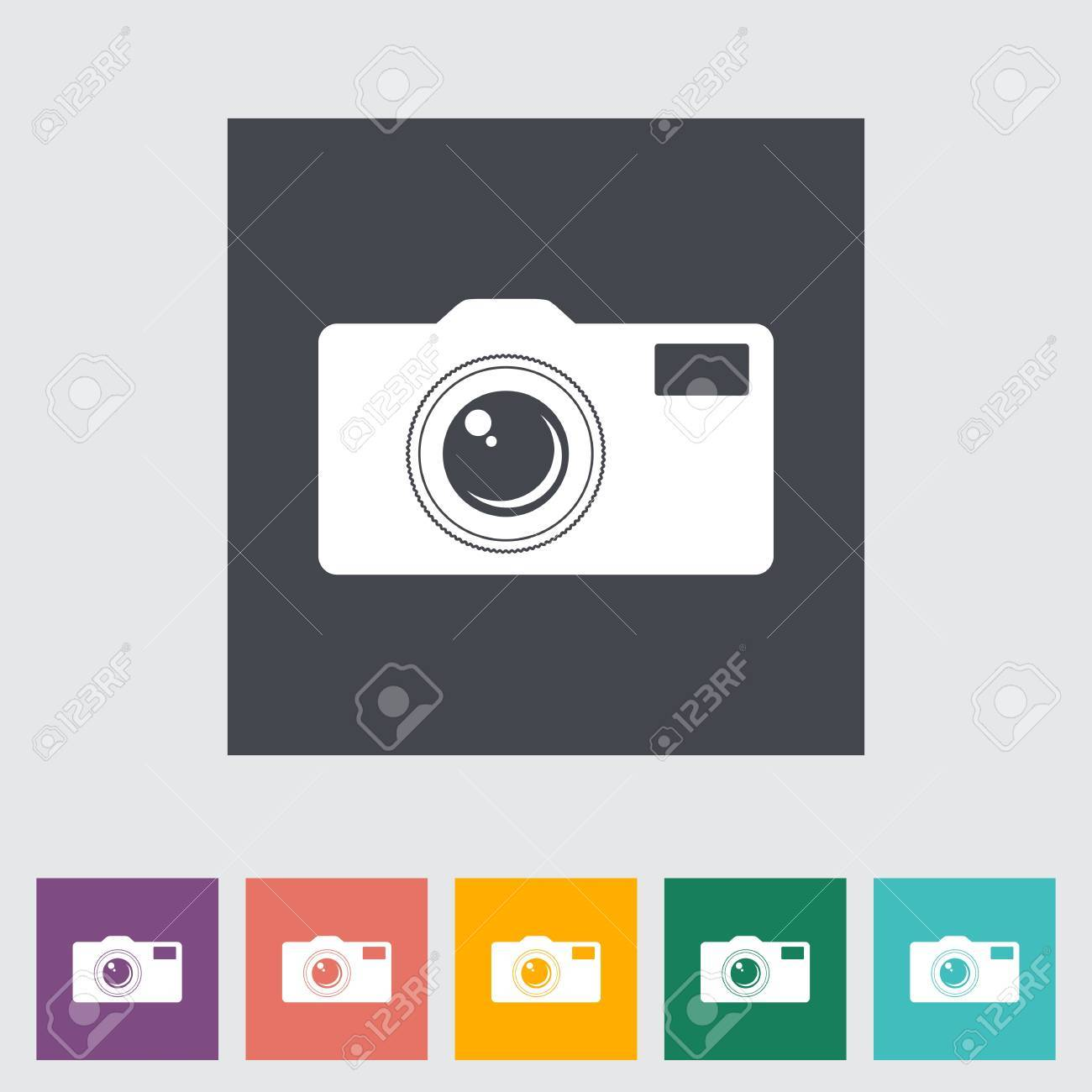 Icon flat camera. Vector illustration. Stock Vector - 20995995