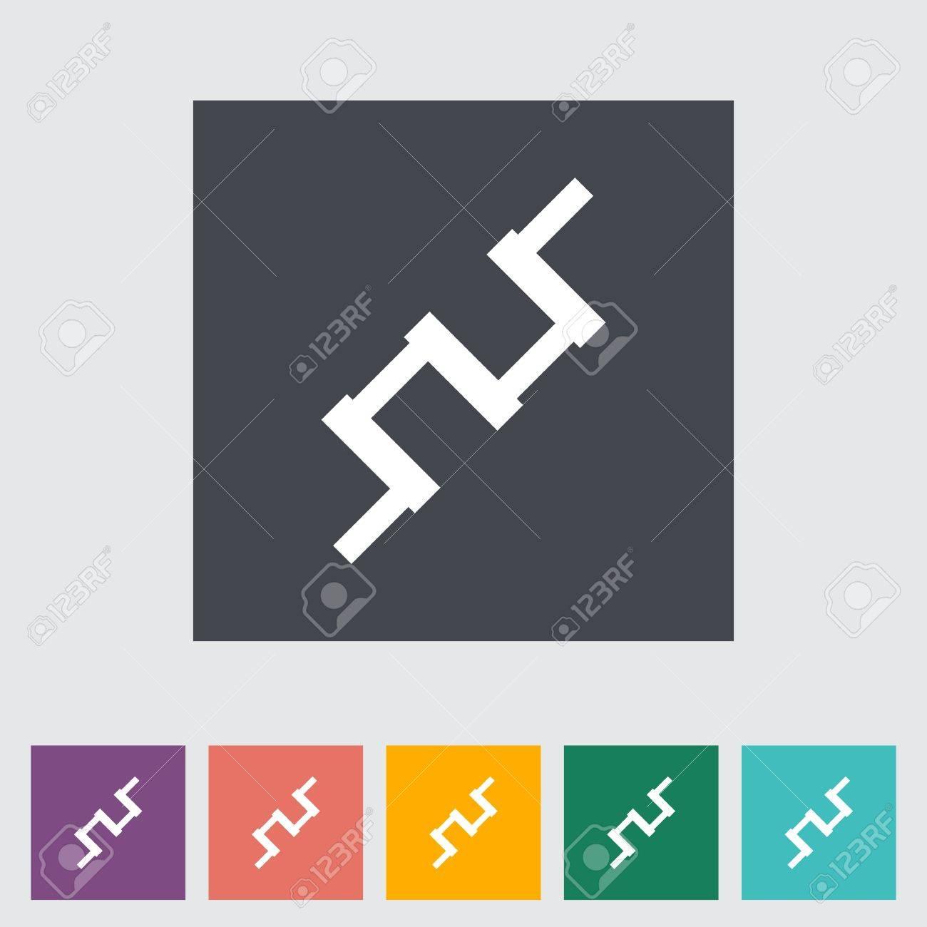 Crankshaft flat single icon. Vector illustration. Stock Vector - 21025890