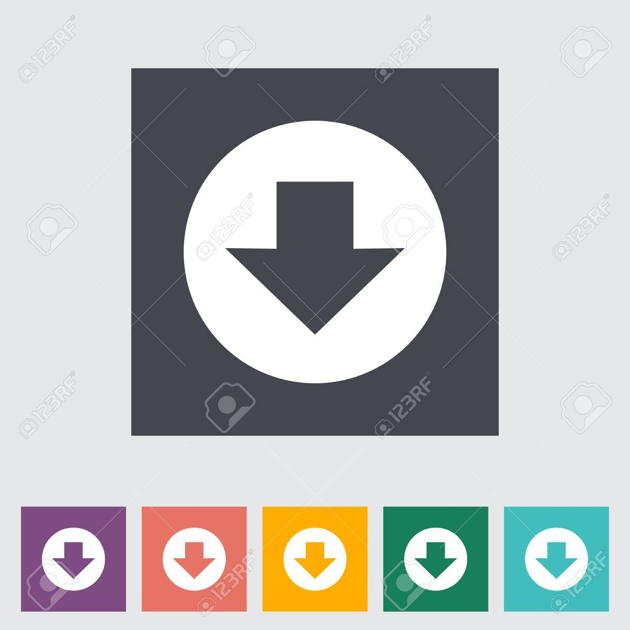 Download. Single flat icon. Vector illustration. Stock Vector - 21025925