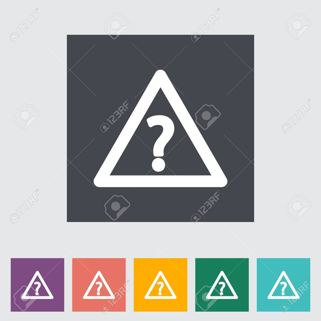 Question flat single icon. Vector illustration. Stock Vector - 21026074